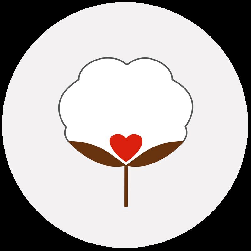 Coton premium péruvien logo Bombón de algodón
