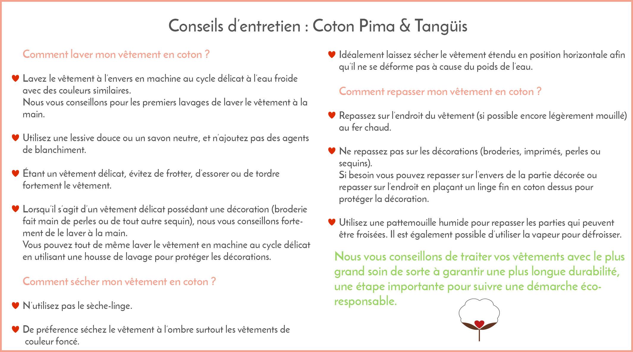 Conseils entretien coton Bombón de algodón