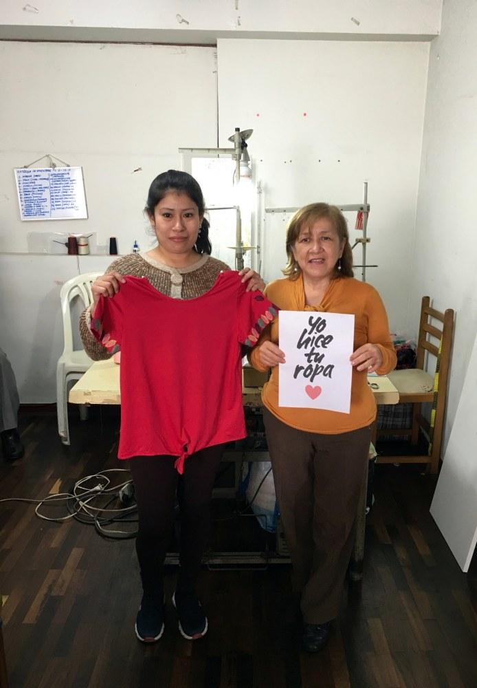 Atelier fabrication vêtements en coton bio Lima Pérou