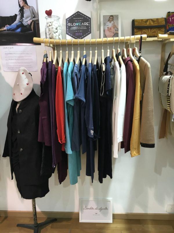 Boutique éphémère Les Créateurs de Saison marque vêtements Bombón de algodón