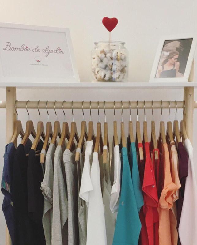 Boutique éphémère Les Créateurs de Saison à Caulaincourt espace marque vêtements Bombón de algodón
